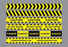 Vettore di nastro di pericolo