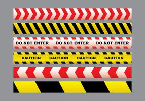 pacchetto di vettore del nastro di pericolo