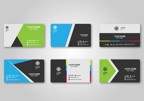 Design luminoso biglietto da visita in bianco vettore