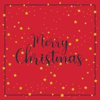 semplice saluto di Natale con stelle sul rosso