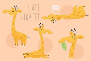 confezione giraffa cartone animato vettore