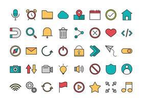 set di icone dell'interfaccia utente