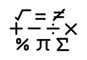 Vettori di simboli matematici gratuiti