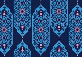 Ornamenti islamici blu scuro vettoriale