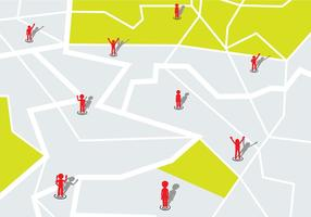 Sei qui Mappa vettoriale gratuito