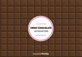 Modello di cioccolato dolce vettore