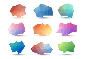 Collezioni vettoriali astratte low low poly