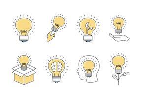 Icone della lampadina della fiala vettore