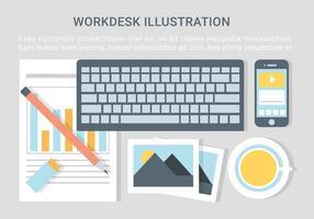 Illustrazione del desktop Designer Vector gratuito