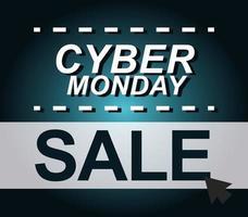 banner di vendita di cyber lunedì