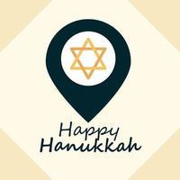 felice composizione piatta hanukkah