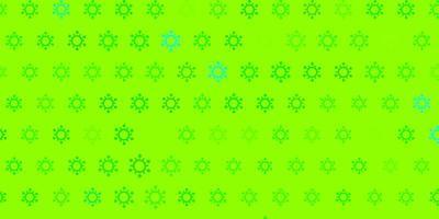 trama verde chiaro con simboli di malattia.