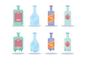 Rottura bottiglia vari vettoriale
