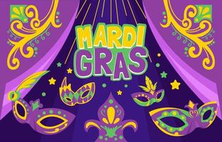 maschera di sfondo mardi gras