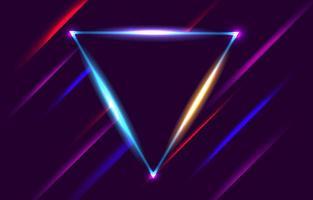 sfondo cornice al neon triangolo vettore