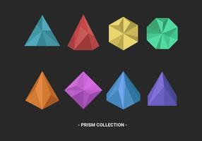 Set di articoli vettoriali Prisma