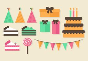 Elementi gratuiti di festa di compleanno