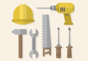 Vettore libero degli strumenti di lavoro