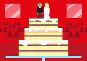 Illustrazione di vettore della torta nunziale di Boda