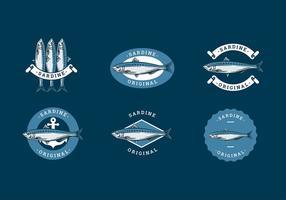 Vettore gratuito del modello di logo della sardina