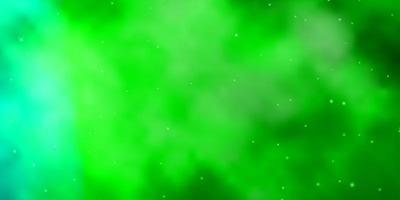 trama verde con bellissime stelle.