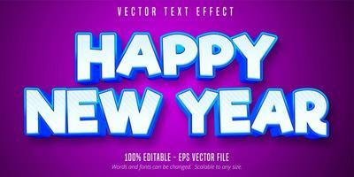felice anno nuovo effetto di testo modificabile