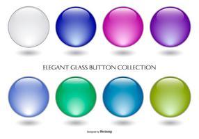 Collezione di bottoni in vetro colorato vettore