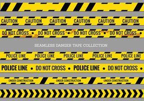 Nastri di pericolo, linea di polizia e Do Not Cross Vector senza soluzione di continuità