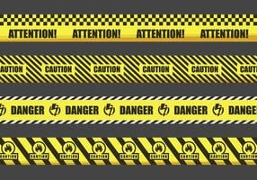Illustrazione di nastri d'avvertimento vettore