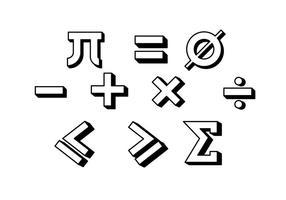 Vettore libero di simbolo di per la matematica