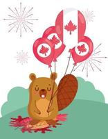 castoro canadese per la celebrazione del giorno del canada