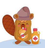 castoro canadese per la celebrazione del giorno del canada vettore