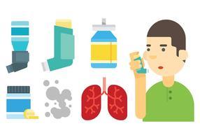 Icone vettoriali di asma gratis