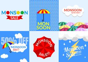 Vettore di vendita di monsone