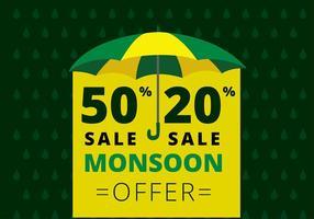 Vettore gratis del modello di offerta di monsone