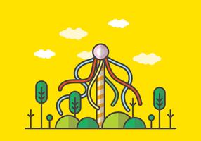 Illustrazione vettoriale di palo della cuccagna