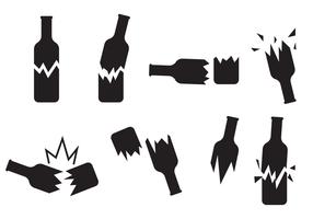 Rotto bottiglia icona vettoriale
