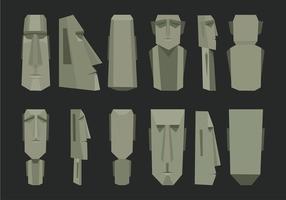 Vettore della statua dell'isola di pasqua
