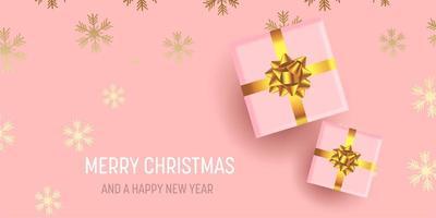 banner di Natale design vettore