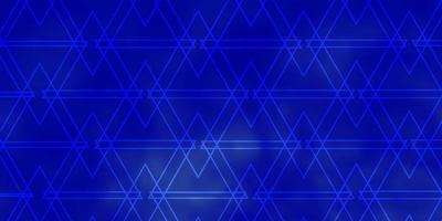 struttura blu con linee, triangoli. vettore
