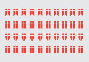 Bandiere di vettore di bandiera danese