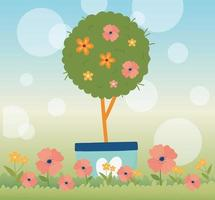 banner di celebrazione di primavera vettore