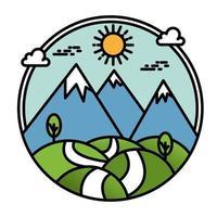 semplice design di montagna per maglietta