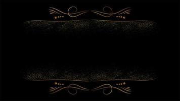 sfondo di lusso nero e oro vettore
