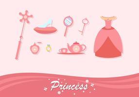 vettore gratis elemento di principessa corallo