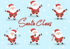 set di caratteri di Babbo Natale vettore