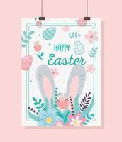 carta d'attaccatura di celebrazione del giorno di Pasqua