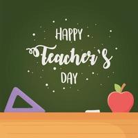 celebrazione del giorno dell'insegnante felice vettore
