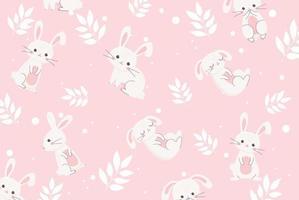modello carino coniglietti pasquali vettore