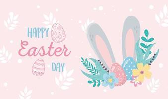 banner di celebrazione di Pasqua felice